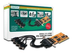 SUNIX PCI karta pro 4 x COM RS-232 9pin