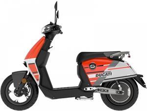 Super SOCO CUX, elektromotocykel, Ducati červený