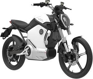 Super SOCO TS, elektromotocykel, biely