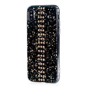 Swarovski kryt Stripe pre iPhone XS X - Black Galaxy Gold 5f6ee1ca9a2