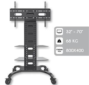 Techly Mobilný stojan pre TV LCD/LED/Plazma 32''-70'' VESA nastaviteľný 2 police