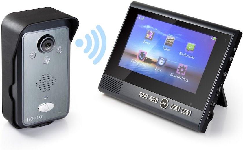 """Technaxx bezdrôtový video zvonček s kamerou vrátane LCD monitora 7 """" (TX-59+)"""