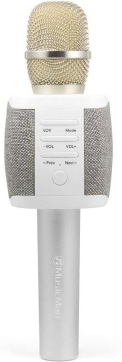 Technaxx FABRIC bluetooth karaoke mikrofon, 2x5W repro, šedá (BT-X44)