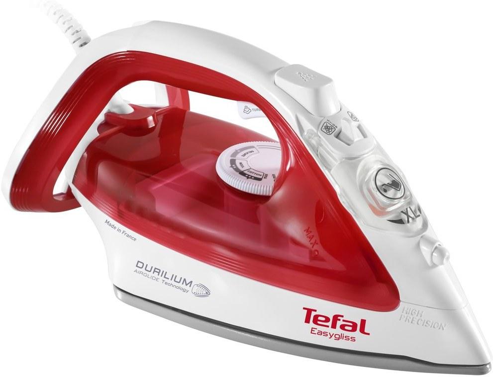 Tefal FV3962 Easygliss, naparovacia žehlička, červená