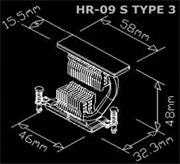 Thermalright HR-09S TYPE 3 Passive MOSFET Cooler