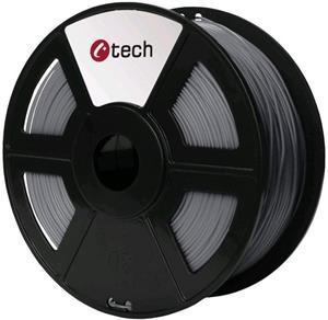 Tisková struna (filament) C-TECH, PETG, 1,75mm, 1kg, stříbrná