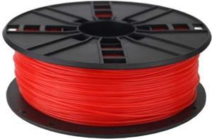 Tisková struna (filament) GEMBIRD, ABS, 1,75mm, 1kg, fluorescentní, červená