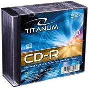 Titanum CD-R [ slim jewel case 1 ks | 700MB | 52x ]