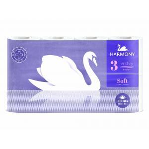 Toaletný papier 3-vrstvový Harmony Soft FLORA Parfumes biely 8 ks