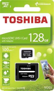 Toshiba 128 GB microSDXC, Class 10 UHS-I + adaptér