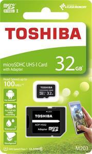 Toshiba 32GB microSDHC, Class 10 UHS-I + adaptér