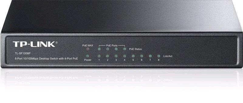 TP-Link TL-SF1008P 8x 10/100Mbps Desktop Switch, 4x POE