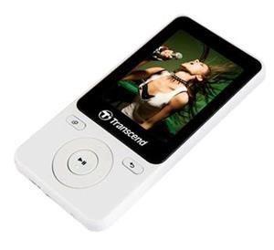 """Transcend 8GB mp3/4 prehravač MP710 biely, 2"""" farebny display"""