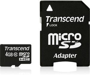Transcend microSDHC 4GB + adaptér