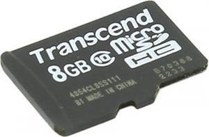 Transcend, microSDHC, 8GB