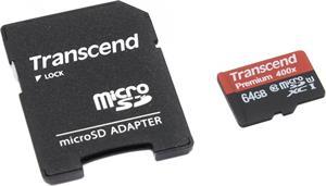 Transcend microSDXC 64GB + adaptér