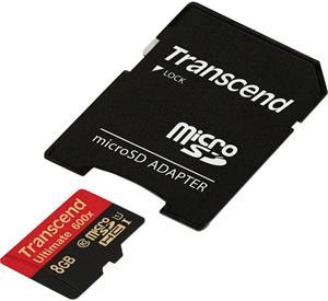 Transcend, SDHC, 8GB + adaptér