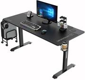 Ultradesk Momentum Black, herný stôl, 152,5x70 cm, 75,5 cm