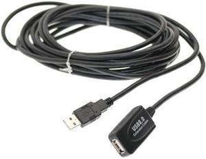 USB2.0 A-A aktívny káblový repeater M/F, 5.0m, predlžovací