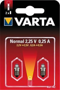 Varta 742, náhradná žiarovka 2.25V