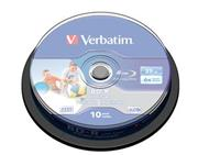 Verbatim BD-R (10-pack) 25GB/6x/spindle/printable