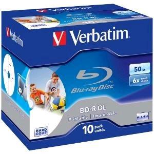 Verbatim BD-R DL 50GB Printable 6x pre tlač ,1ks
