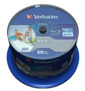 VERBATIM BD-R SL Datalife (50-pack)Blu-Ray/Spindle/6x/25GB Wide Printable