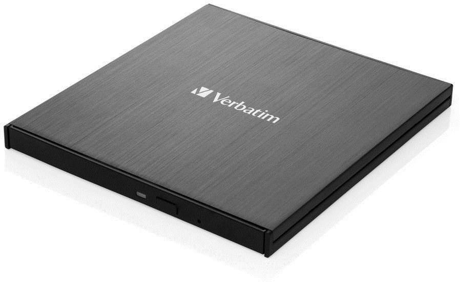 Verbatim Blu-ray Ultra HD 4K Slimline externá napalovačka, čierna