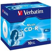 Verbatim CD-R 16x/700MB/Jewel/Audio - Music - 'Live it Cool Blue'