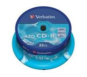 Verbatim CD-R 25 pack 52x/700MB/AZO Crystal