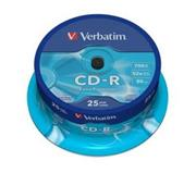 Verbatim CD-R 25 pack 52x/700MB/Extra Protection