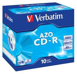 Verbatim CD-R 52x/700MB/Jewel/AZO Crystal