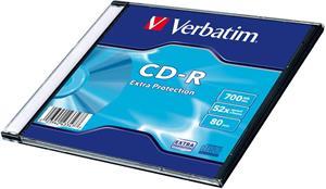 Verbatim CD-R 52x/700MB/Slim/Extra Protection