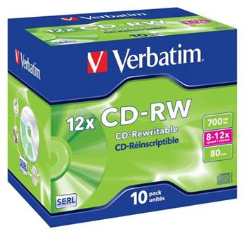 Verbatim CD-RW 8-12x/Jewel ks