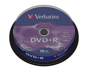Verbatim DVD+R 10 pack 16x/4.7GB