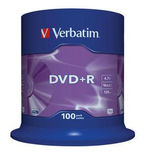 Verbatim DVD+R 100 pack 16x/4.7 GB