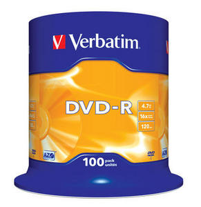 Verbatim DVD-R 100 pack 16x/4.7GB