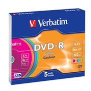 Verbatim DVD-R 16x/4.7GB/Slim/Colour 1ks