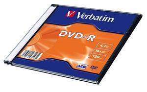 Verbatim DVD-R (20-Pack) Slim/16x/4.7GB
