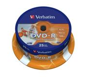 Verbatim DVD-R 25 pack 16x/4.7GB/Printable