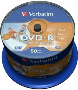 Verbatim DVD-R 50 pack 16x/4.7GB/Printable