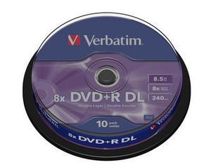 Verbatim DVD+R DL 10 pack 8x/8,5GB