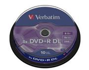 Verbatim DVD+R DL 10 pack 8x/8,5GB
