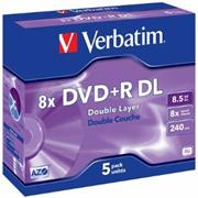 VERBATIM DVD+R DL /Jewel/8x/8,5GB