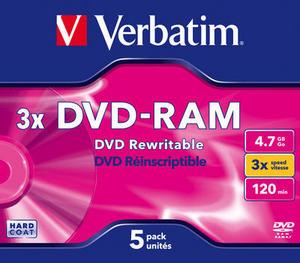 Verbatim DVD-RAM Jewel/3x/4.7GB 1ks