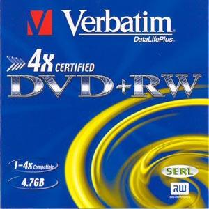 Verbatim DVD+RW 10 pack 4x/4.7GB