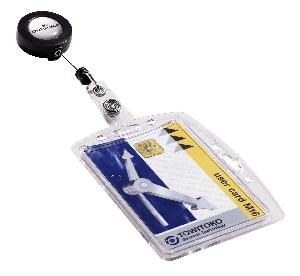Visačka DURABLE na plastovú kartu s výsuvným kotúčom 10 ks