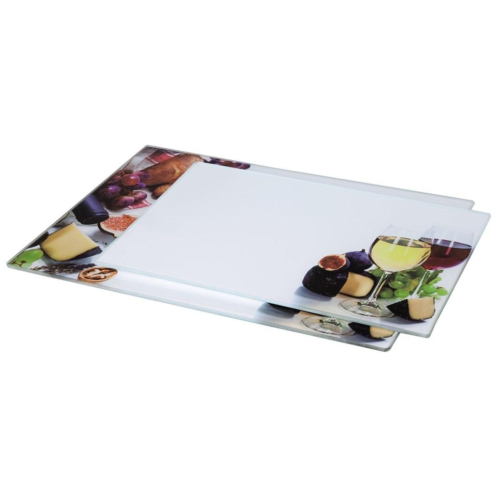 Xavax sklenená doska na krájanie Wine, 20x30 cm, 25x35 cm, set 2 ks