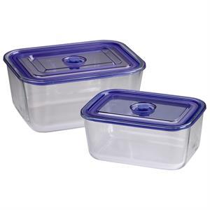 Xavax sklenené nádoby, hranaté, 1500 ml + 3050 ml, 2 ks