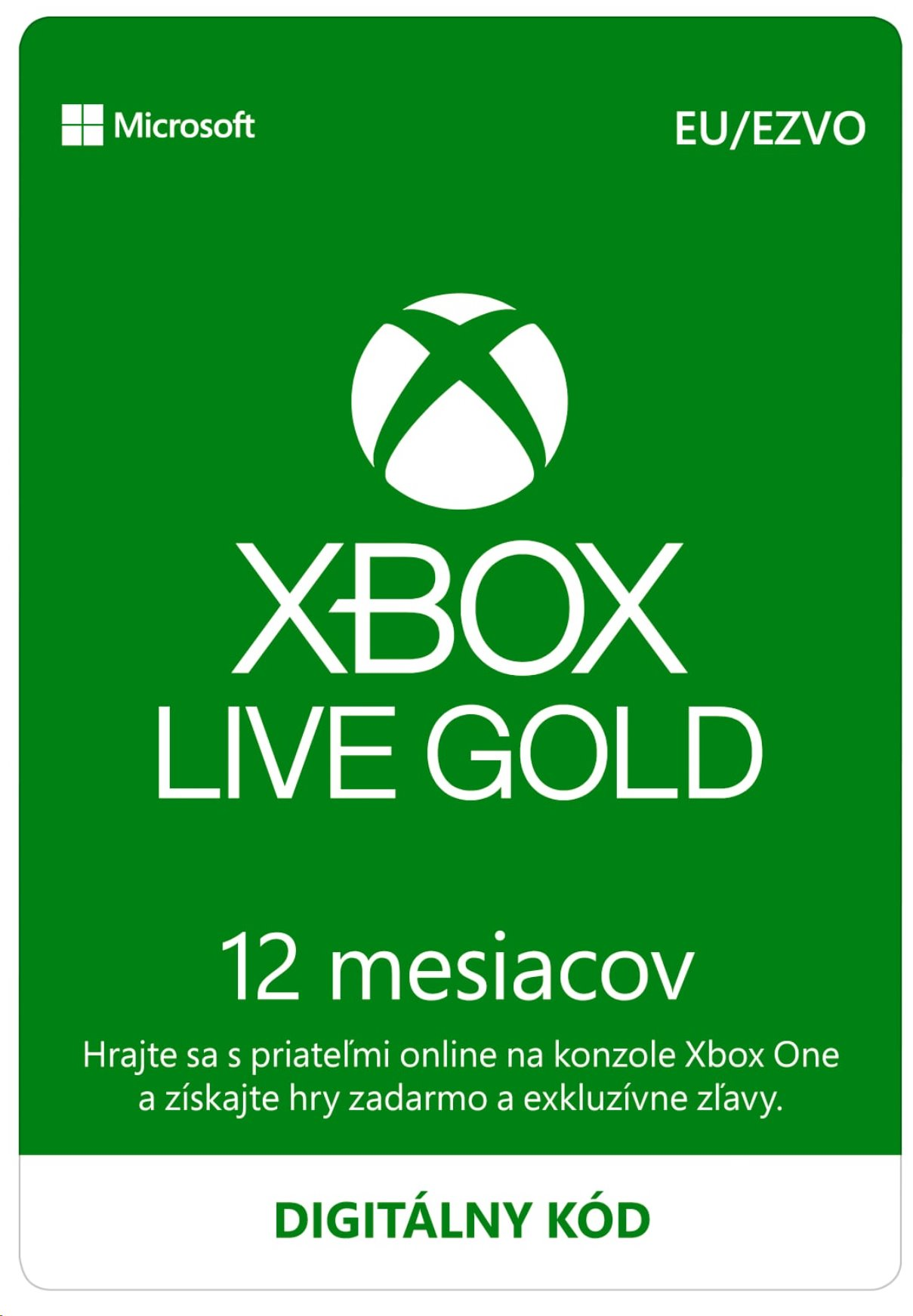 Xbox Live Gold 12 Month Membership ESD
